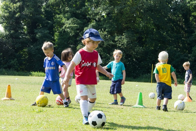 KidsWorks soccer class ages 3-5
